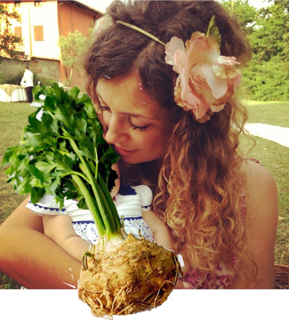 Daria e il celeriac (sedano rapa)