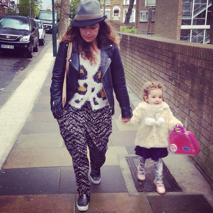 Walking to nursery
