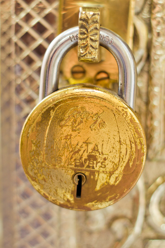 Gold temple padlock - Mumbai, India