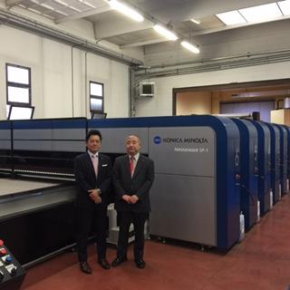 Mr Seiji Nakashima & Mr Akiyoshi Ohno of Konica Minolta