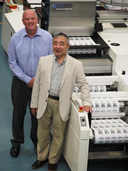 Akiyoshi Ohno with John Corrall of Industrial Inkjet Ltd