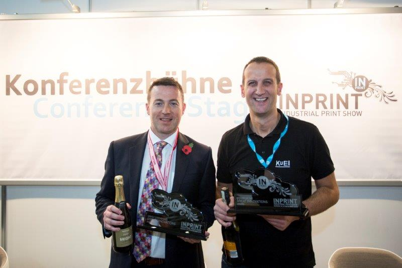 Graham Kennedy, Ricoh (l) & Giorgio Macor, Kuei (r) Winners of Great Innovations at InPrint 2015