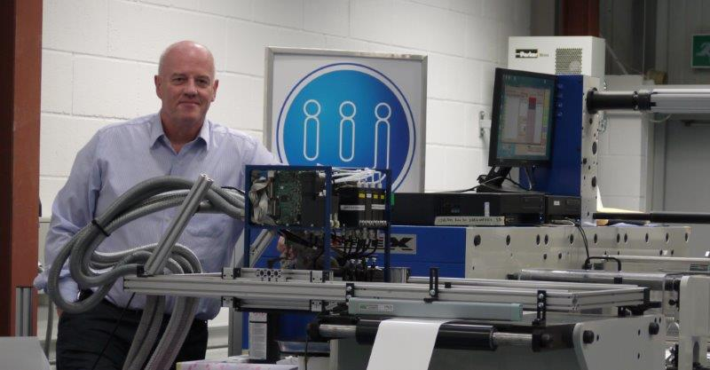 John Corrall, Managing Director of Industrial Ink Jet celebrates their 10th year