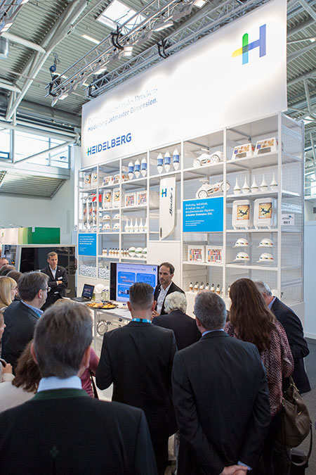 The Heidelberg booth attracted a lot of attention at InPrint 15