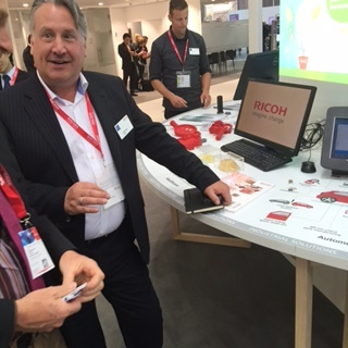 We caught up with Dave at the industrial zone on the Ricoh booth at Drupa.