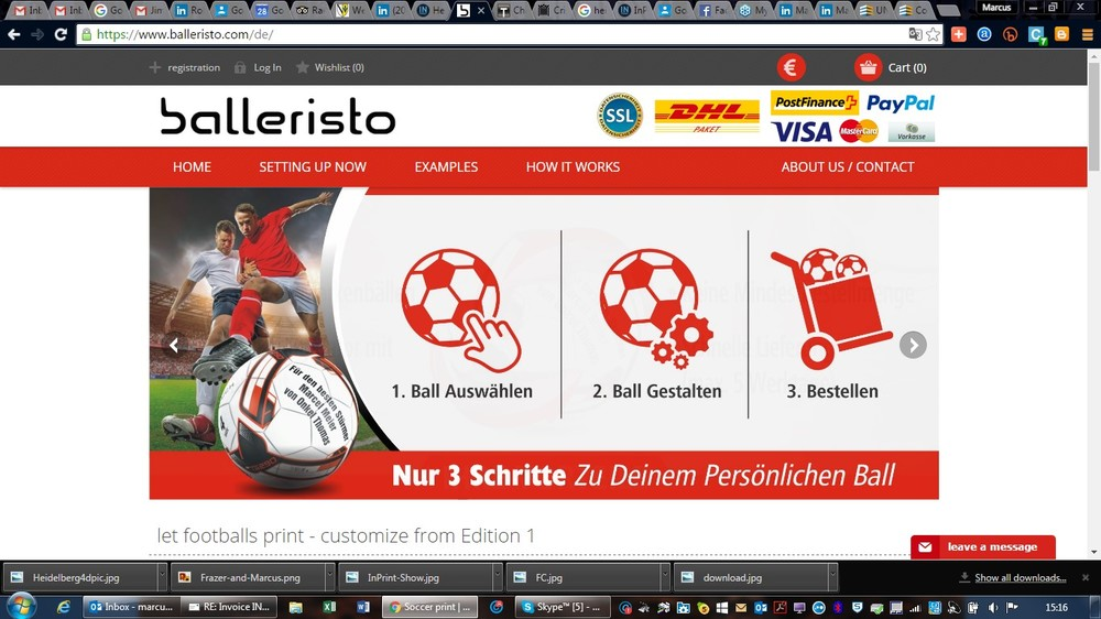 Balleristo website enables customers to purchase personalised footballs using Omnifire