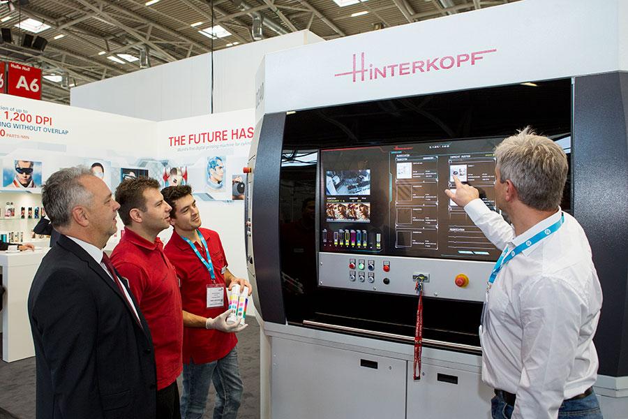 Hinterkopf D240 at InPrint Show 2015 in Munich