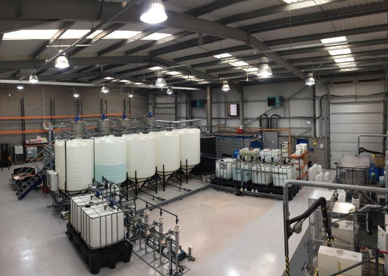 The impressive production facility at Promothean Particles in Nottingham, UK