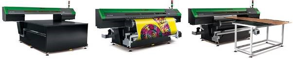 The VersaUV S-Series is available in flatbed and belt configurations with media table included on the belt configuration