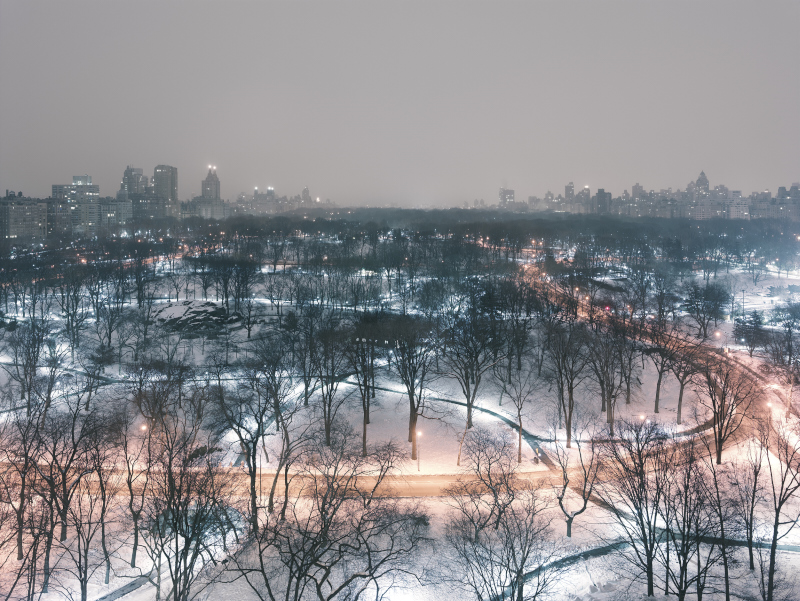CENTRAL PARK (WINTER NIGHT), MANHATTAN,  NEW YORK  ARCHIVAL PIGMENT PRINT  ED.: 9  113.5 x 144.5 CM / 44 2/3 x 57 IN