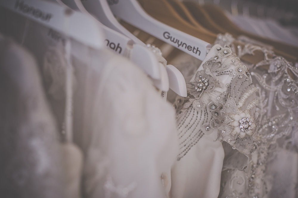 Wedding dresses in BOO Bridal Boutique, Hartley Wintney (Hampshire).