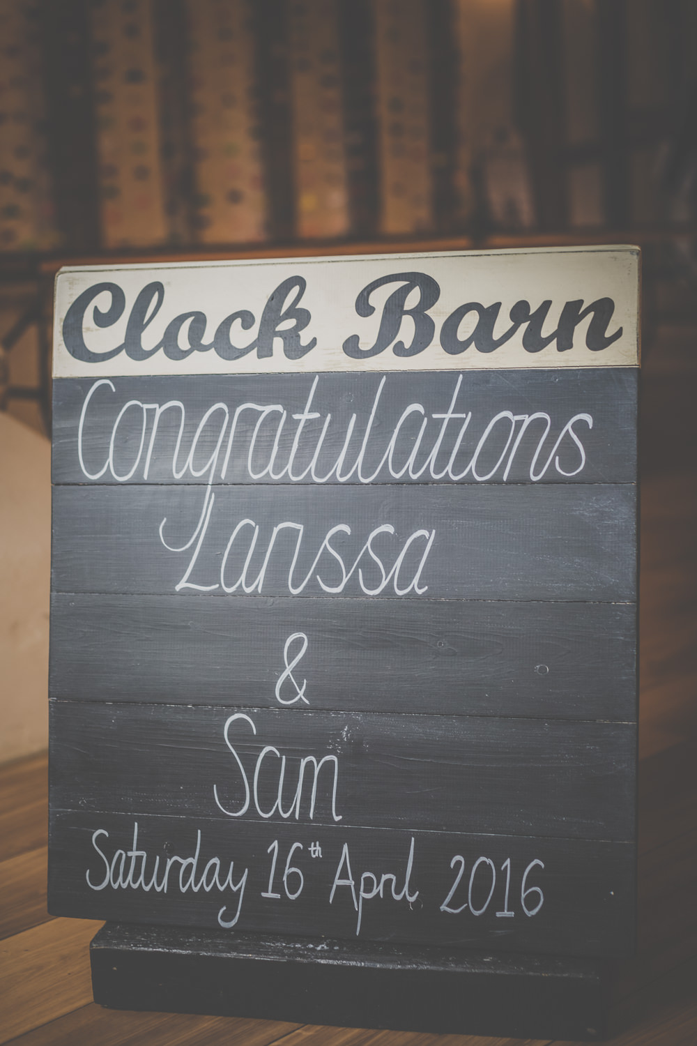 Clock Barn Wedding Signs