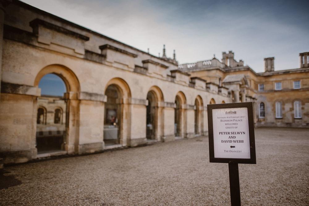 Blenheim Palace gay wedding