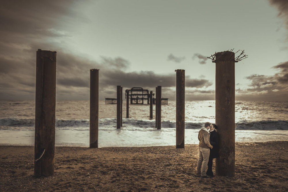 Brighton West Pier Engagement Photos