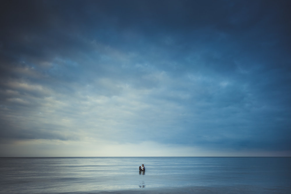 Romantic Engagement Photography in the beach