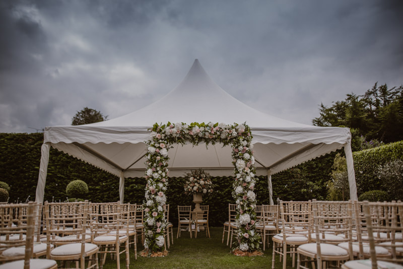 Photo of one of the stunning marquees from Lulu's Marquees, based in Oxforshire