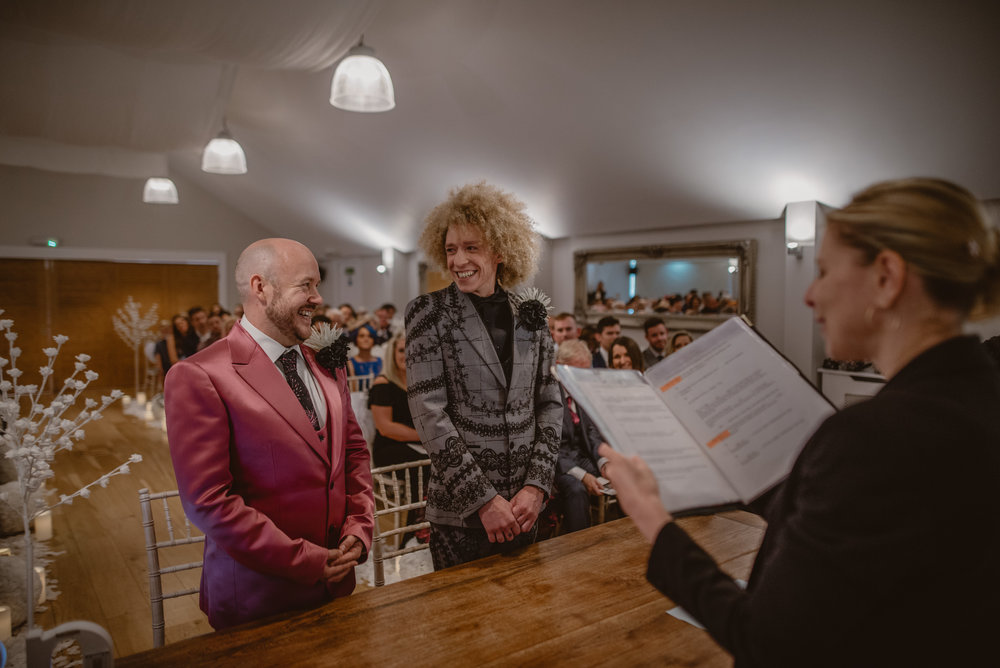 Same-Sex couple getting married at Wasing Park, Reading, Berkshire by Manu Mendoza Wedding Photography
