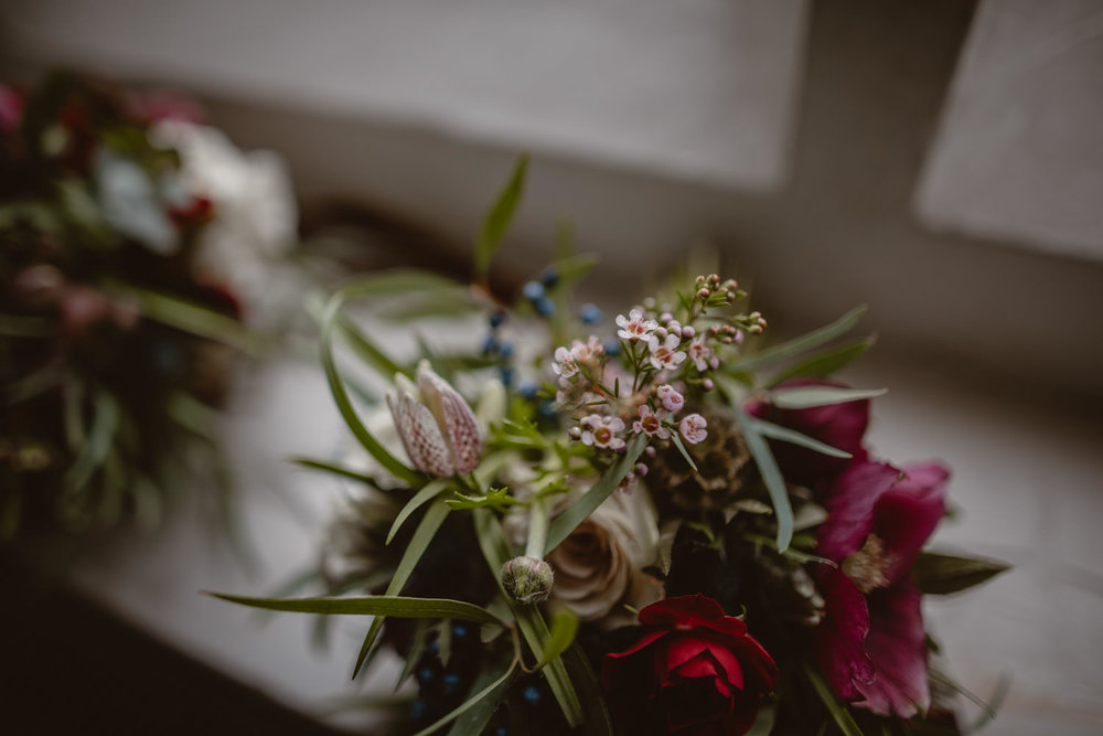 Wedding flowers in Peckforton Castle
