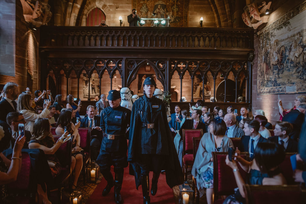 Peckforton Castle Star Wars Wedding Ceremony