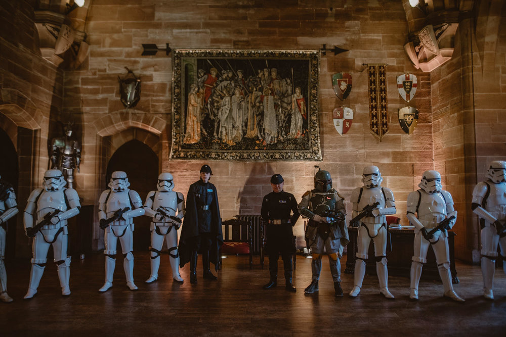 Peckforton Castle Star Wars Wedding Photos