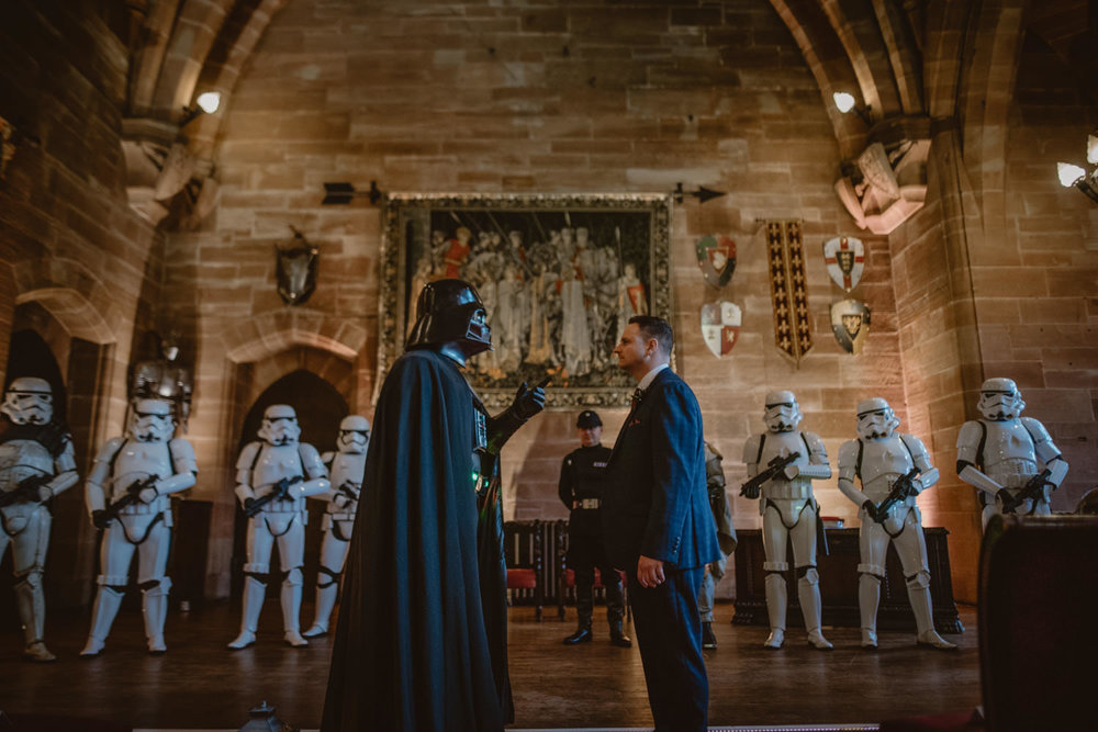 Darth Vader and Groom Star Wars Wedding