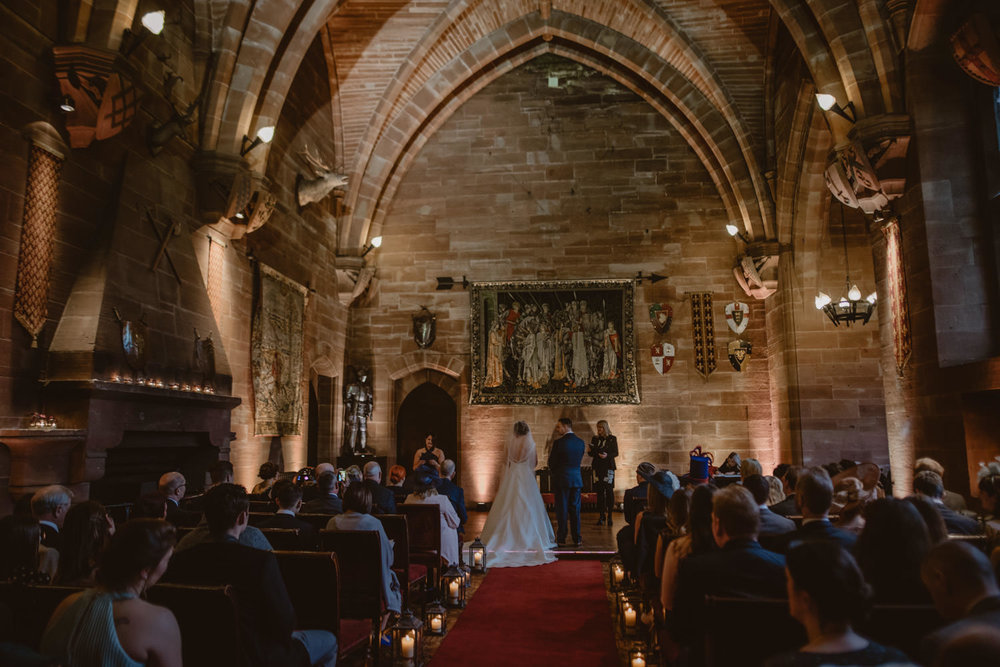 Wedding Ceremony in Peckforton Castle