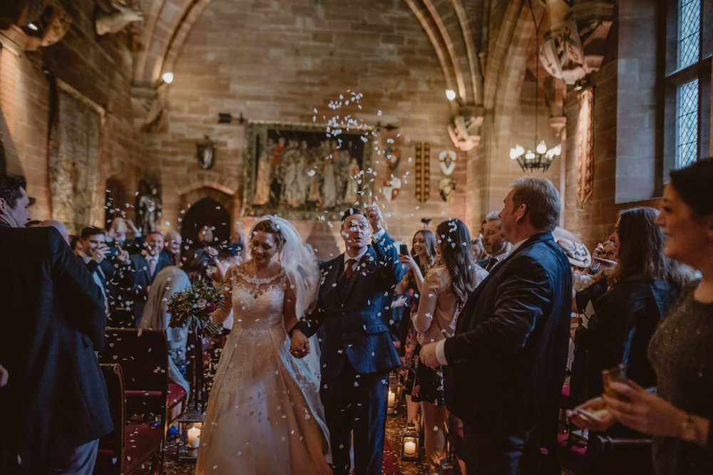 Confetti in Peckforton Castle
