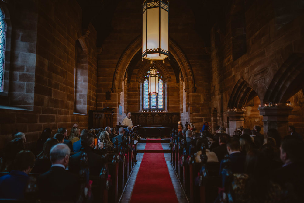 Religious Wedding Ceremony at Peckforton Castle