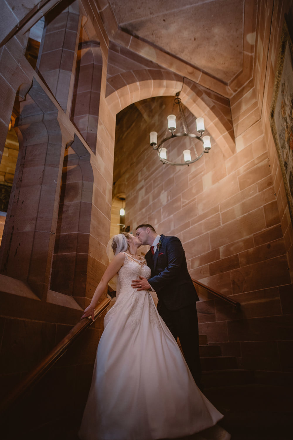 Bride and Groom Photos at Peckforton Castle