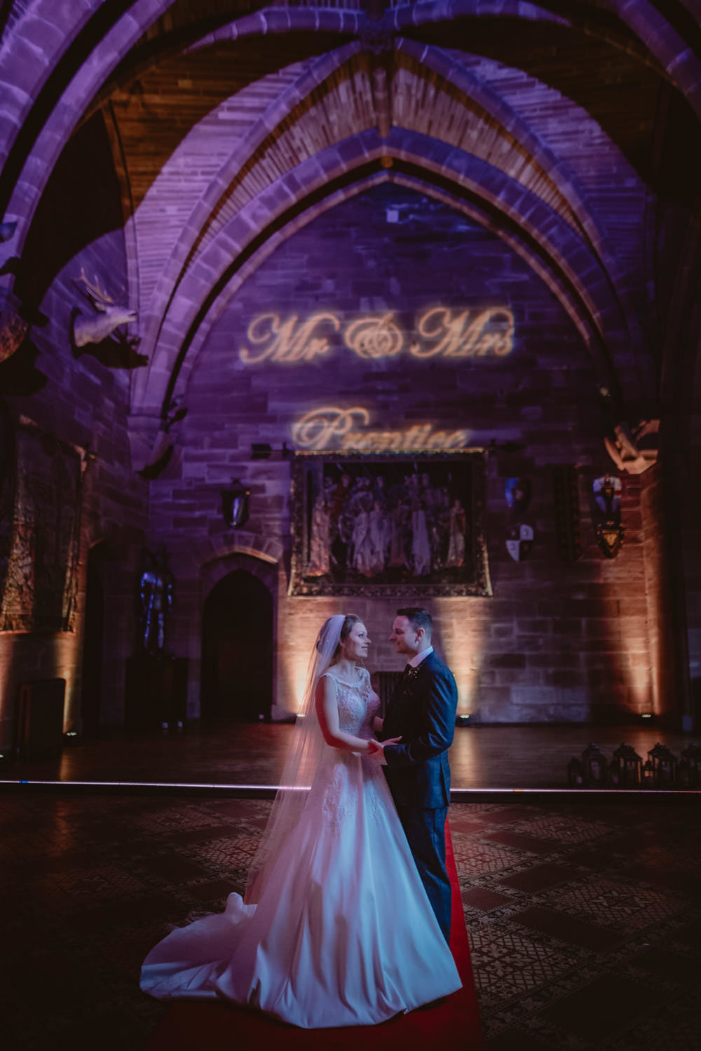 Wedding Photography at Peckforton Castle Hall
