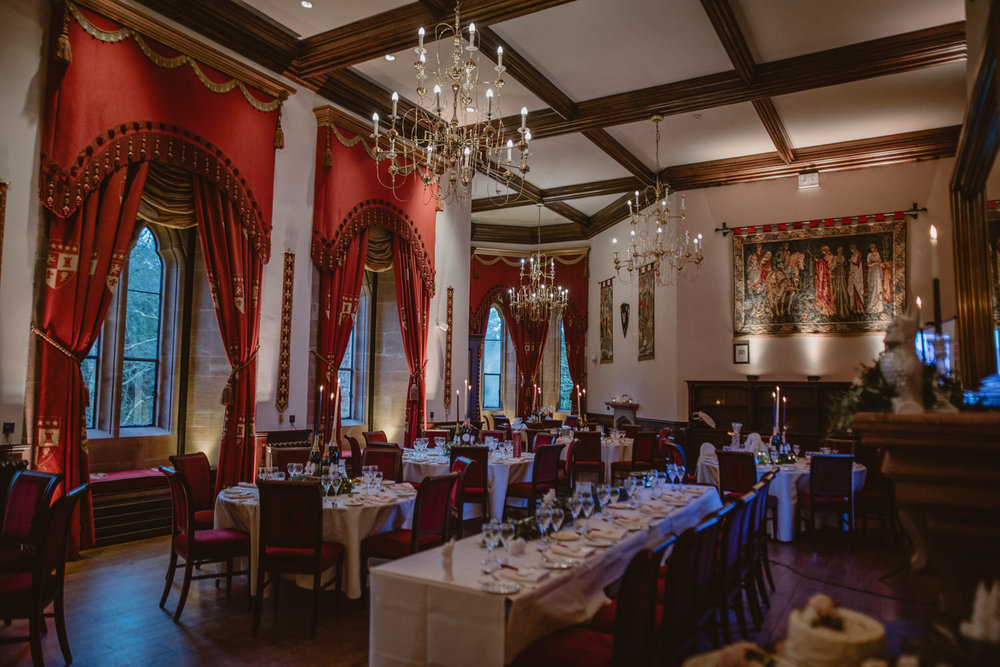 Wedding Reception at Peckforton Castle