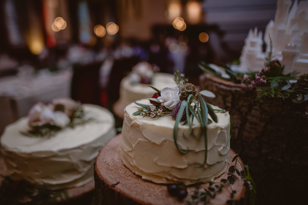 Wedding Cake at Peckforton Castle
