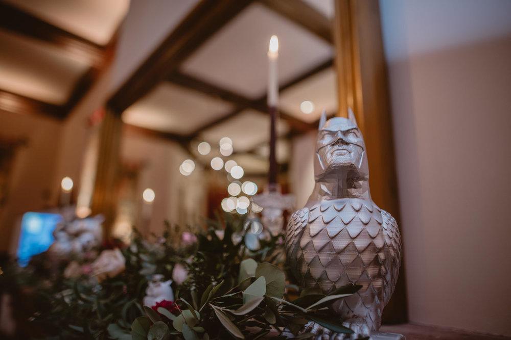 Original Wedding Decorations at Peckforton Castle