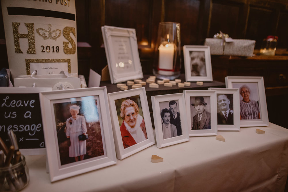 Remembrance table in Peckforton Castle
