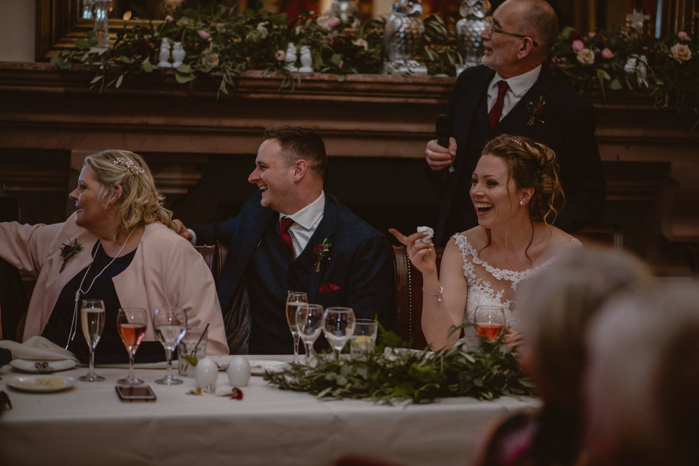 Wedding Breakfast at Peckforton Castle