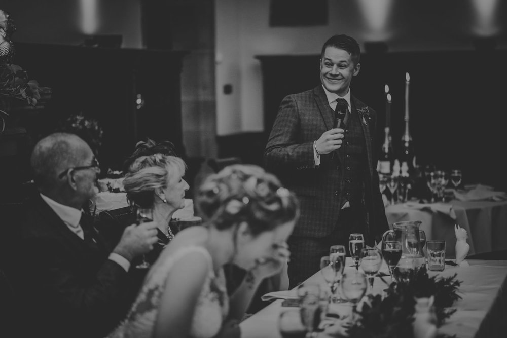 Best Man speech in Peckforton Castle
