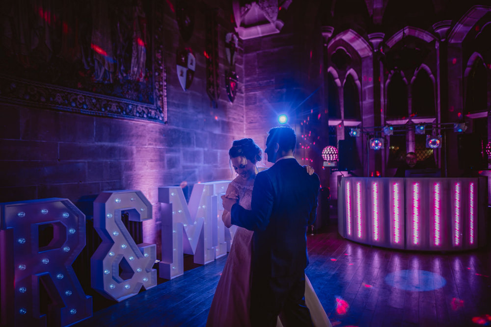 First Dance Wedding Photo in Peckforton Castle