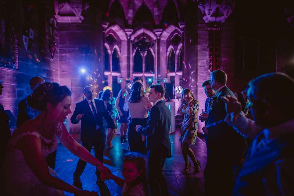 Wedding Party photos at the hall in Peckforton Castle