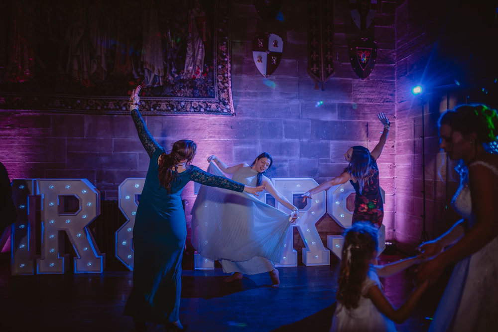 Wedding Party pictures at Peckforton Castle