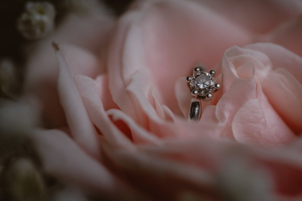 Wedding ring photo at The Elvatham Hotel in Hampshire