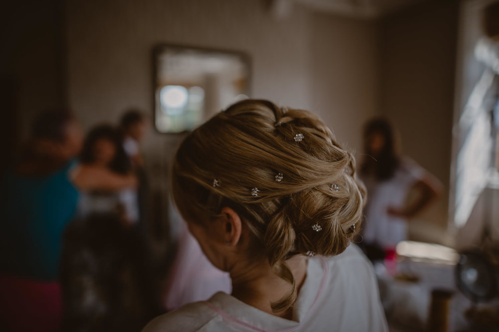 Wedding makeup and hair in The Elvetham Wedding Venue