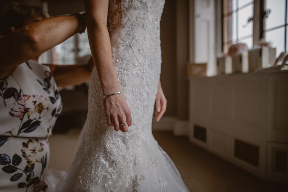 Wedding dress at The Elvetham Hotel