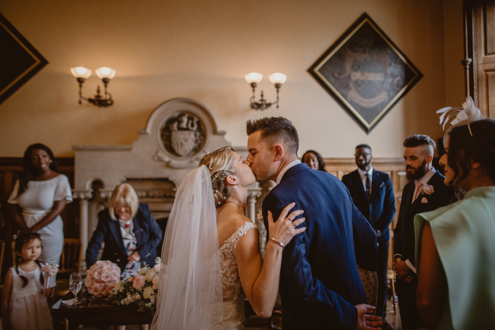 Bride and Groom at The Elvetham Hotel Wedding venue