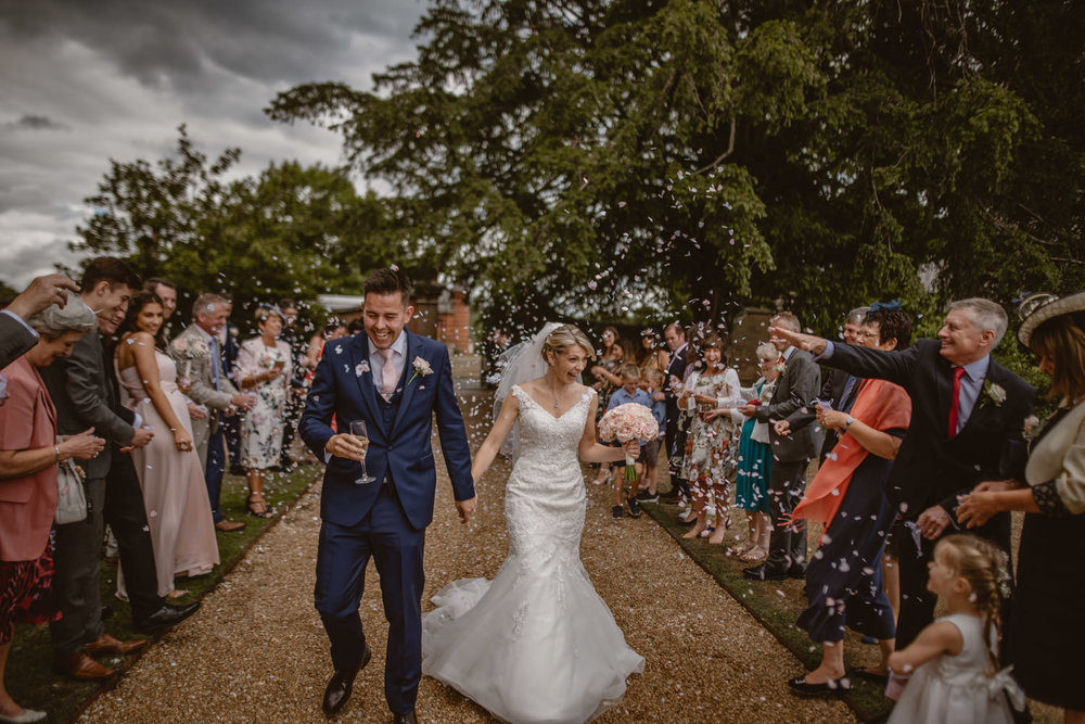 Confetti photo at The Elvetham Hotel
