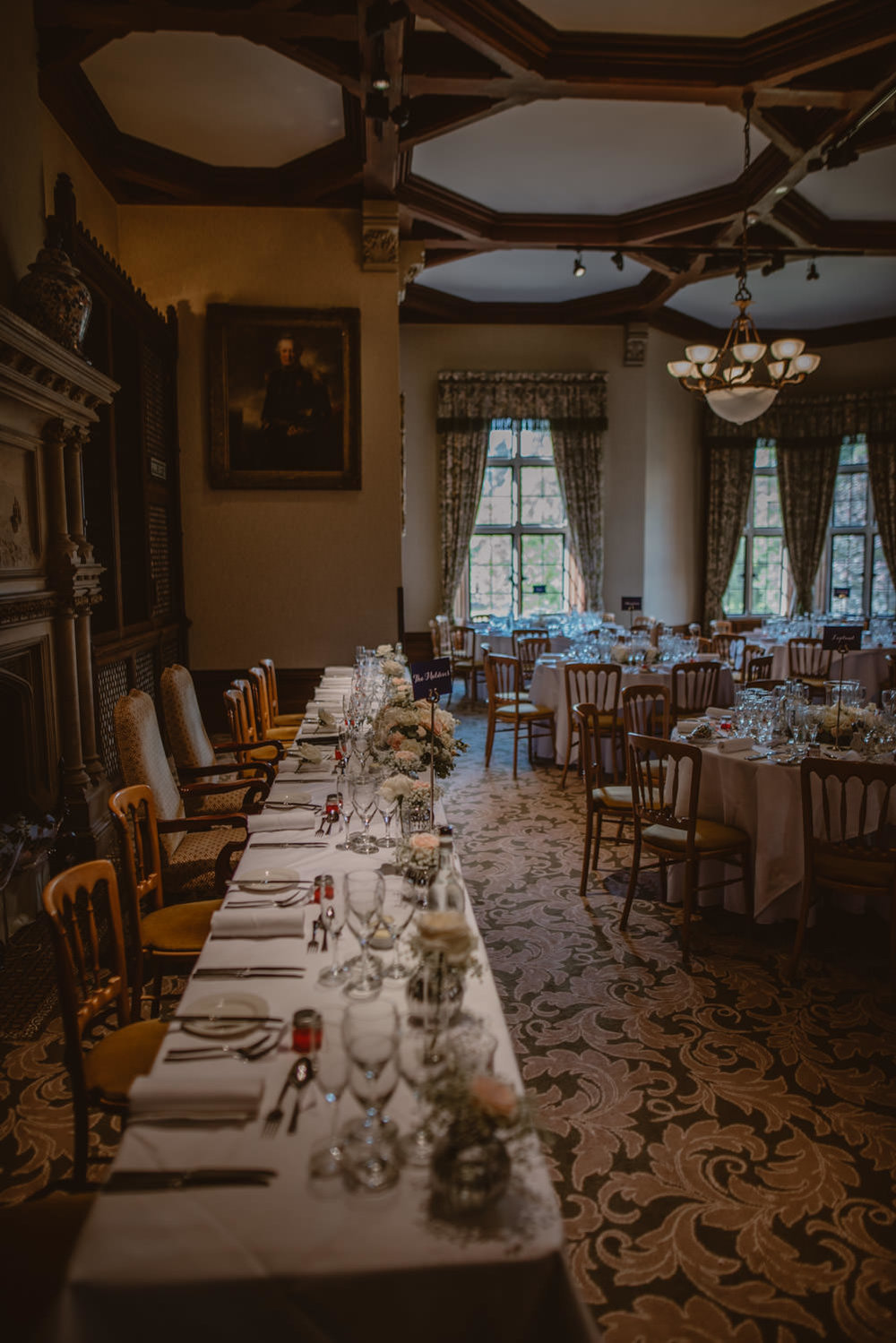 The Library Reception Wedding at The Elvetham Hotel