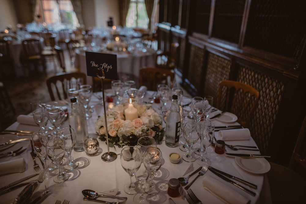 Wedding Decorations at The Elvetham Hotel in Hampshire