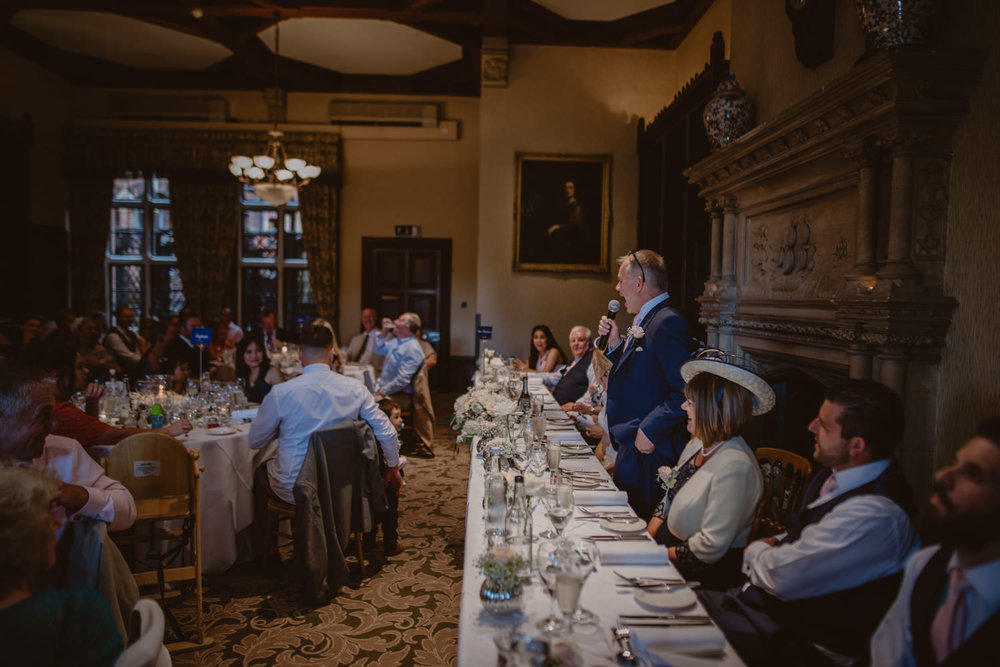 Speeches Wedding Photography at The Elvetham Hotel