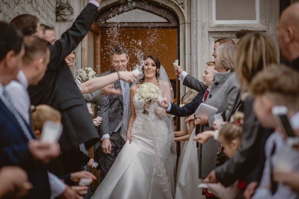 Confetti Shot in Froyle park Hampshire