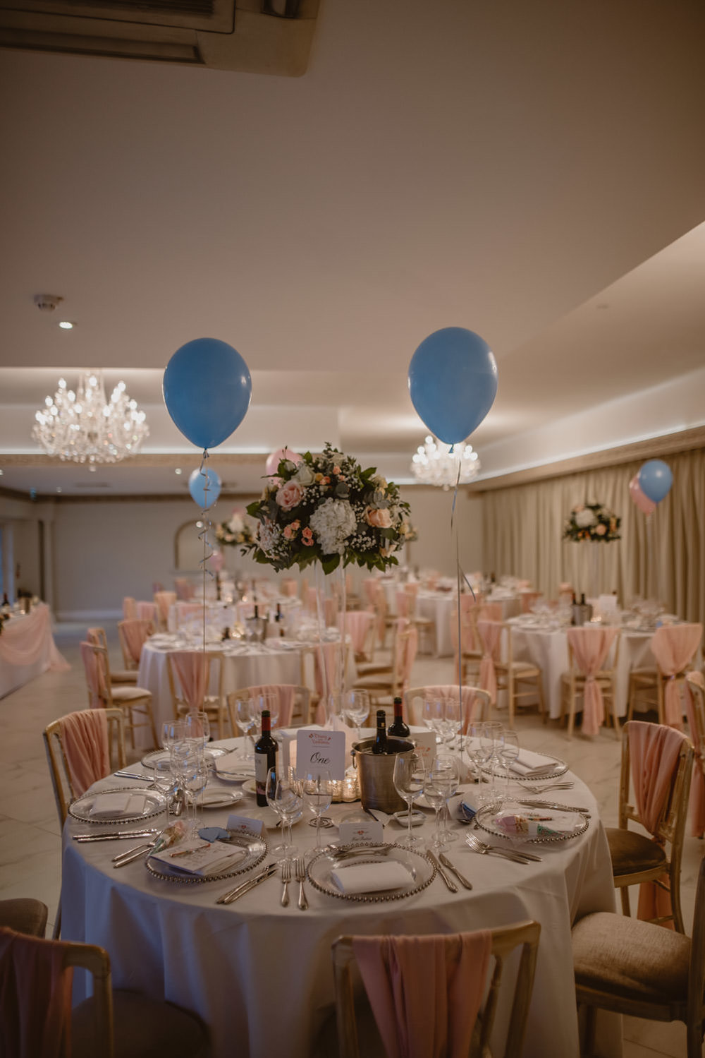 Reception decor in Froyle Park Wedding venue