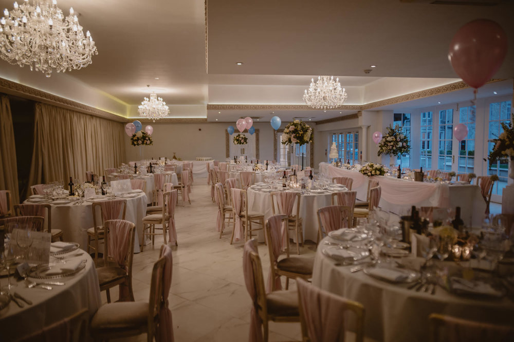 Froyle Park Wedding reception Hampshire